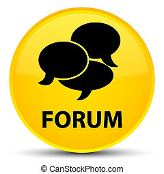 Forum (comments icon) special yellow round button