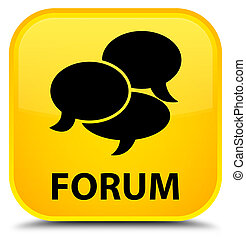 Forum (comments icon) special yellow square button