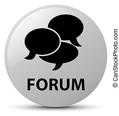 Forum (comments icon) white round button