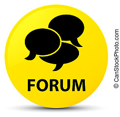 Forum (comments icon) yellow round button