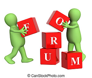 Forum - Conceptual image - success of teamwork