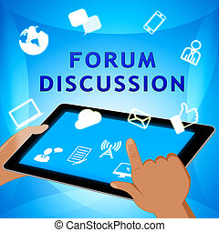 Forum Discussion Icons Shows Community 3d Illustration