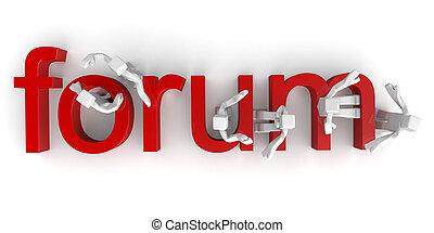 forum, diskussion, begriff