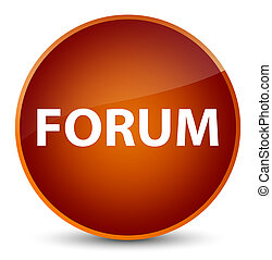 Forum elegant brown round button