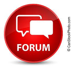 Forum elegant red round button