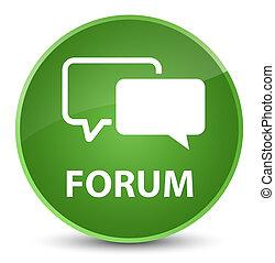 Forum elegant soft green round button