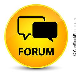 Forum elegant yellow round button