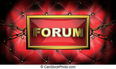 forum  on velvet background