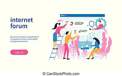 forum, gabarit, internet