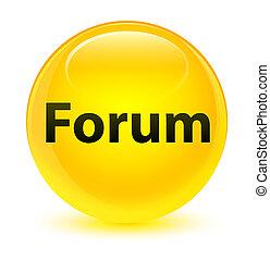 Forum glassy yellow round button