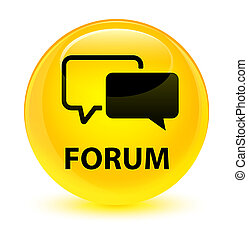 Forum glassy yellow round button