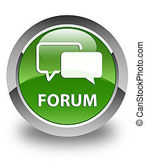 Forum glossy soft green round button