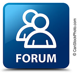 Forum (group icon) blue square button