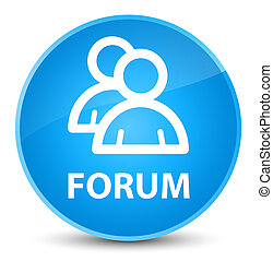 Forum (group icon) elegant cyan blue round button