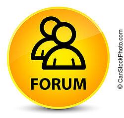 Forum (group icon) elegant yellow round button