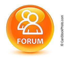 Forum (group icon) glassy orange round button
