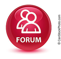 Forum (group icon) glassy pink round button