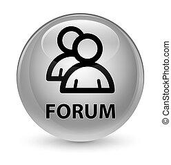 Forum (group icon) glassy white round button