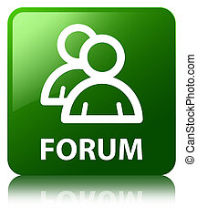 Forum (group icon) green square button
