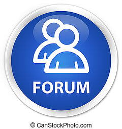 Forum (group icon) premium blue round button