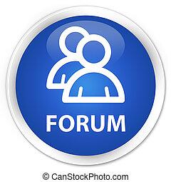 Forum (group icon) premium blue round button