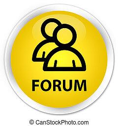 Forum (group icon) premium yellow round button
