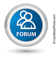Forum (group icon) prime blue round button
