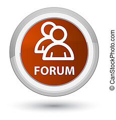 Forum (group icon) prime brown round button