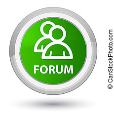 Forum (group icon) prime green round button