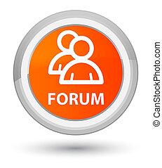 Forum (group icon) prime orange round button