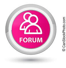 Forum (group icon) prime pink round button