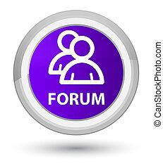 Forum (group icon) prime purple round button