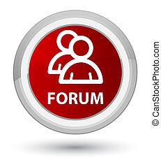 Forum (group icon) prime red round button