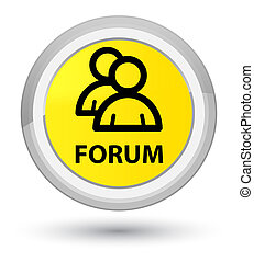 Forum (group icon) prime yellow round button