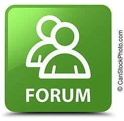 Forum (group icon) soft green square button