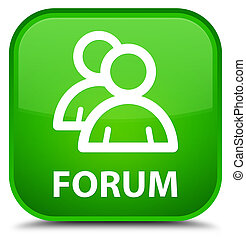 Forum (group icon) special green square button