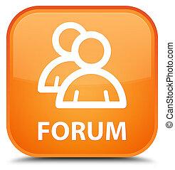 Forum (group icon) special orange square button