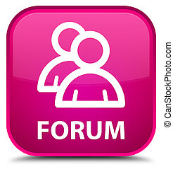 Forum (group icon) special pink square button