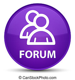 Forum (group icon) special purple round button