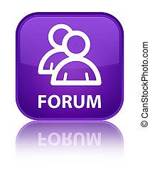 Forum (group icon) special purple square button