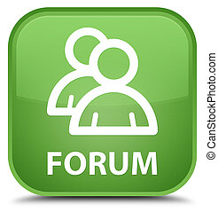 Forum (group icon) special soft green square button