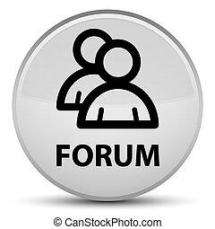 Forum (group icon) special white round button