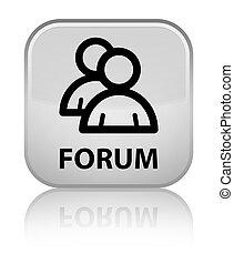 Forum (group icon) special white square button