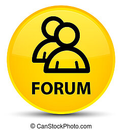 Forum (group icon) special yellow round button