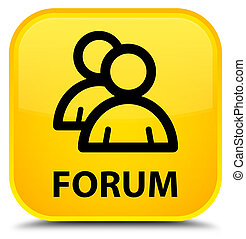 Forum (group icon) special yellow square button