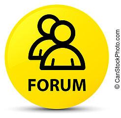 Forum (group icon) yellow round button