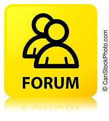 Forum (group icon) yellow square button