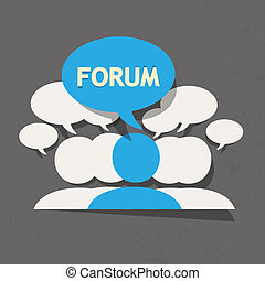Forum group with speech bubble vector background