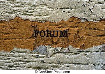 Forum grunge concept