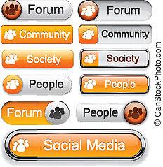 Forum high-detailed modern buttons.